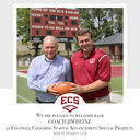 Coach Heinz Returns to ECS as Coach and Advancement Special Projects